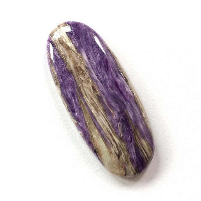 Charoite Gemstone Cabochon Oval 49x19mm