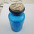Antique Collectible  French Cobalt Blue Apothecary Bottle with Original Cork