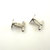 Vintage Marked Oval Sterling Siver Cuff Links  with Star  Patent Number Early