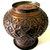 Vintage 1970's  Tall  Fat Wide Copper Urn Pot Hand Stamped Vase Hand Detailed