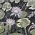 Purple water lilies and Koi fish, original linocut block print, relief print, 6