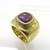 Vintage Amethyst Ring - Gold Plated Silver Ring - Chunky Statement Ring