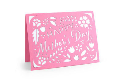 Happy Mother's Day PaperCut Card , Blank inside , Mother , Mothers Day , Grandma