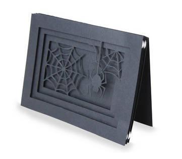 Spider Halloween Blank Card , Pop-Dots , 3D , PaperCut , Halloween , Spooky ,