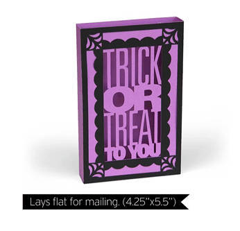 Trick Or Treat To You Card , 3D , Stand Up , Box Card , Kids , Adults , Spooky ,