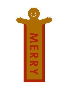 Gingerbread man bookmark , Laminated , Books , Page keeper , Reading ,