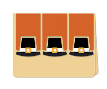 Pilgrim Hats Card , Thanksgiving , Thanks  , Family , Friends , Co-workers ,