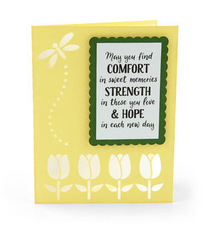Sympathy Card , Blank inside , Papercut , Loss , Loved one , Family , Friends ,