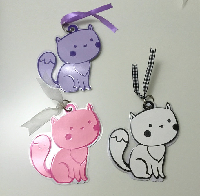 Kitty Cat Album , Notes , Stickers , Drawing , Purple , Pink , White , Kids ,