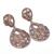 925 Sterling Silver Semi Precious Labradorite Black Rainbow White Topaz Dangler