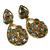 925 Sterling Silver Semi Precious Labradorite Black Rainbow  Dangler Long