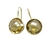 Sterling Silver Gemstone Citrine  Studded Delicate Dangler Earring Jewelry .