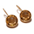 Sterling Silver Gemstone Citrine  Studded Delicate Dangler Earring Jewelry .