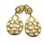 Sterling Silver Gemstone Rainbow Moonstone  Studded Delicate Dangler Earring
