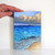 Seascape Painting, Small Oil Painting of Tropical Waves, Serene Scene 5x7 inches