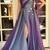 Prom Dresses Strapless Beads Handmade Flowers Tulle And Satin Side Split Evening