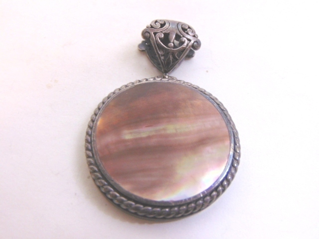 Womens Vintage Estate Sterling Silver Pendant by Ex Ex Claudia Agudelo 29.1g