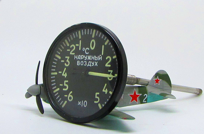 Vintage Military Russian MiG Aircraft Board Thermometer THB-45 Gauge Extra Nice