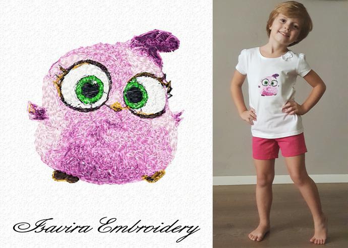 Machine embroidery design 'Baby Birds', Sfumato, child, fun, animals