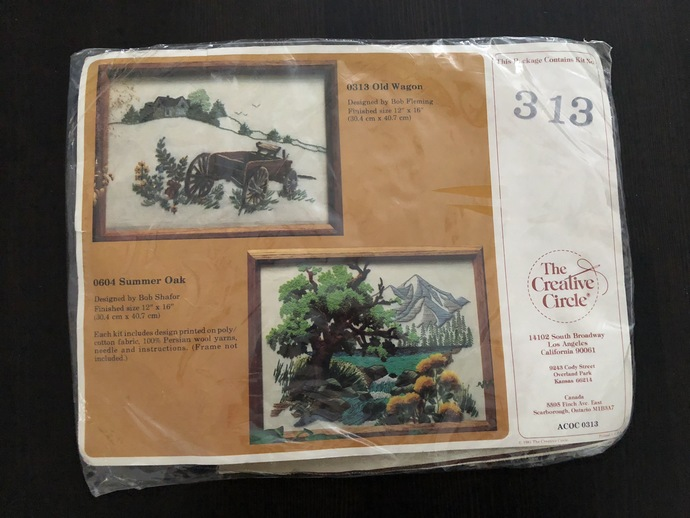 Cross Stitch pattern - Vintage Old Wagon - NEW in package - de-stash