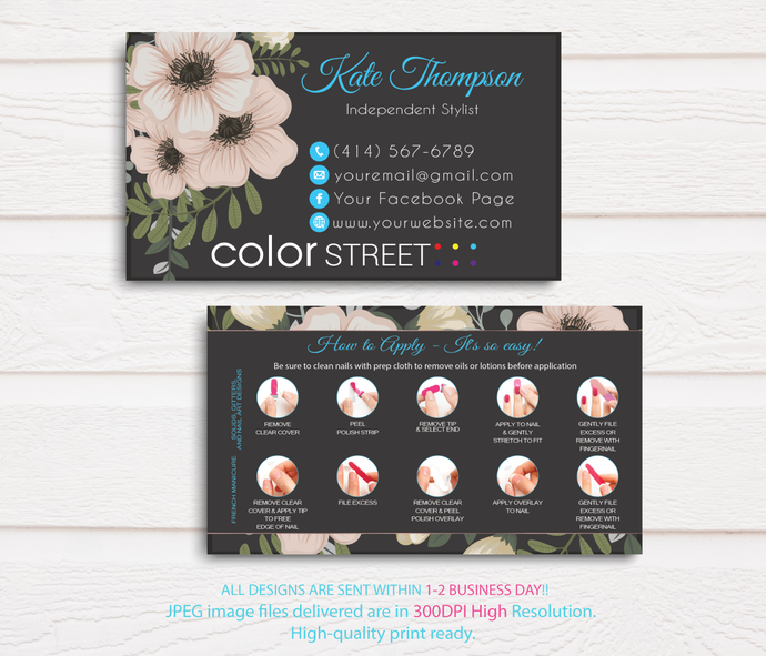 How to apply Color Street Card, Color Street Application Cards, Color Street