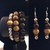 Multicolored Wood Silver Bead Bracelet & Earring Set, Womens