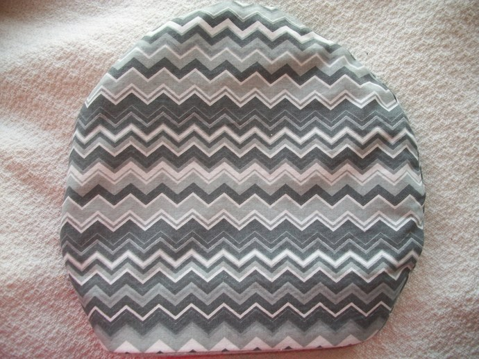 Zigs & Zags in Grey  Round Sleeping Bags for Hedgehogs made to fit inside Igloos