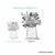 Flower Basket vector pack - illustration, drawing, original art, for stamps,