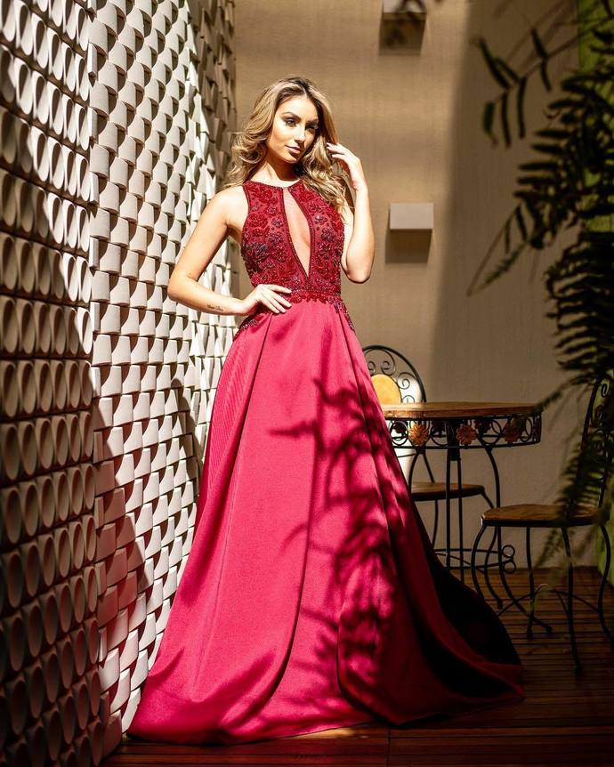 Sexy openwork A swing double shoulder dance party dress prom dresses