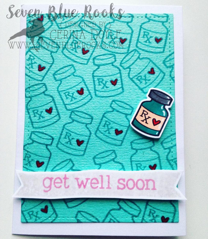 Get Well Soon card | handmade card, ideal for cheering up sick friends, family,