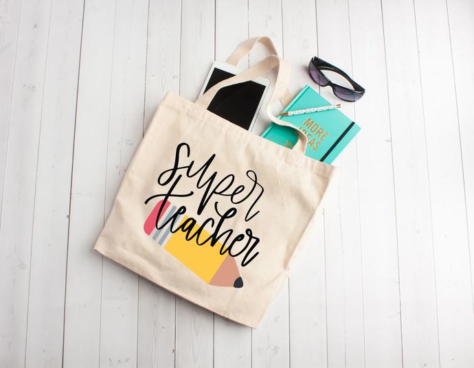 Super Teacher, personalized teacher gifts, unique teachers gift ideas, cotton