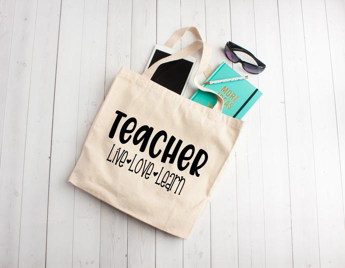 Teacher Personalized Teacher Gifts Unique Teachers Gift Ideas Cotton Book Bag Back To School Teacher Totes