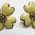 Vintage-Jewelry-Gold-Enamel-Earrings-Costume-Flower-Floral-Retro-Mid