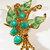 Vintage-Coro-Jewelry-Gold-Rhinestone-Beads-Enamel-Pin-Brooch-Costume