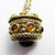 Vintage-Jewelry-Gold-Rhinestone-Cabochon-Pendant-Necklace-Costume
