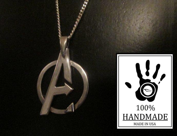 Marvel's Avengers Logo Sterling Silver Pendant 0.925