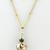 Black Venetian Heart Necklace - venetian glass, gold filled, gold leaf, white,