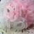 "Organza Roses with Rhinestone - 1.5"" White, Pink stl"