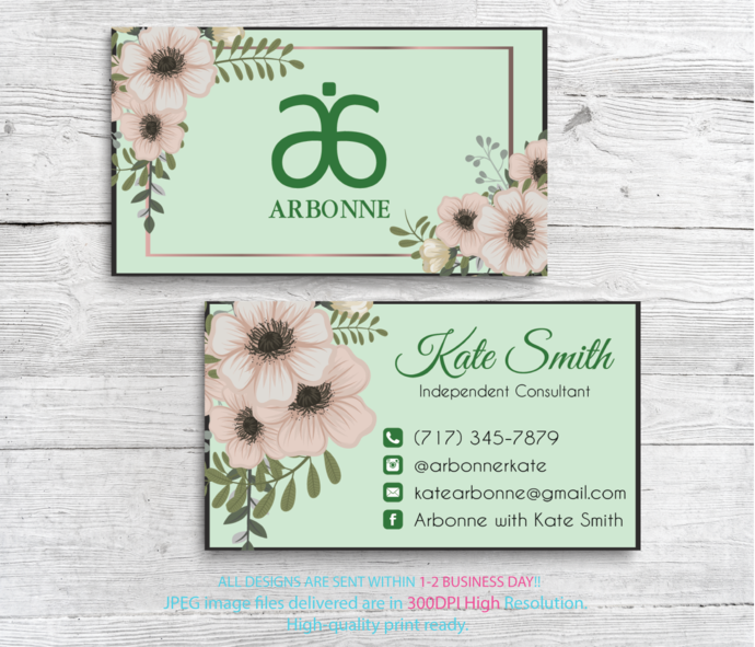 Arbonne Business Cards Arbonne Consultant Cards Free Personalised Arbonne Consultant Modern Business Card Ab88