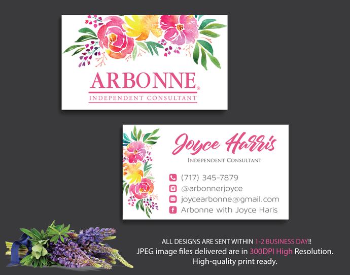 Arbonne Business Card, Arbonne Digital file card, Arbonne Consultant,