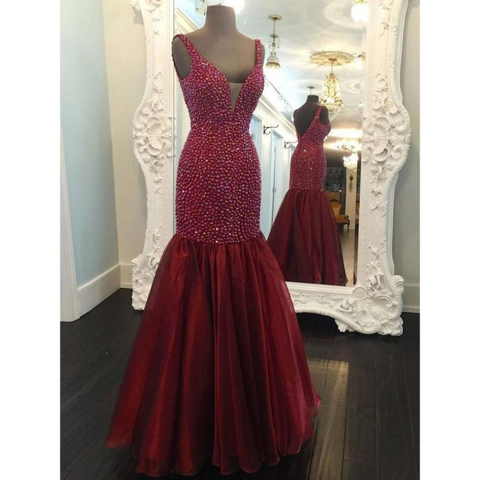 Burgundy Prom Dresses, Prom Dresses Long Prom Dresses, Prom Dresses Mermaid