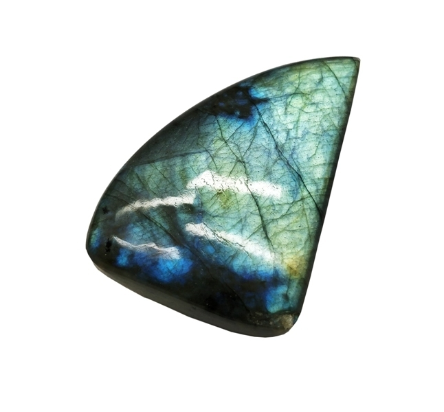 Semi Precious Natural Labradorite Black Rainbow Hand polished Fancy shape