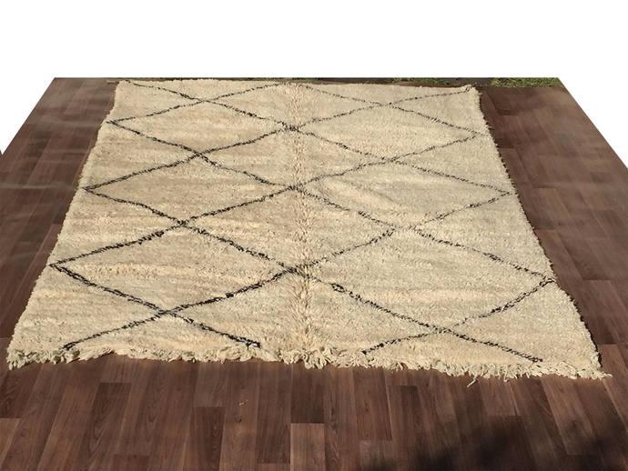 gorgeous tribal handmade beni ourain authentic moroccan rug teppich tapis - Tapis Beni Ouarain
