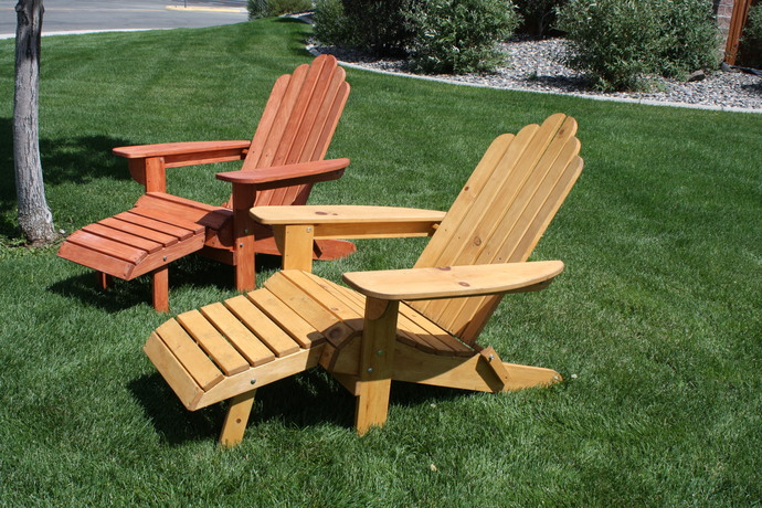 The Folding Adirondack Chair With Footrest
