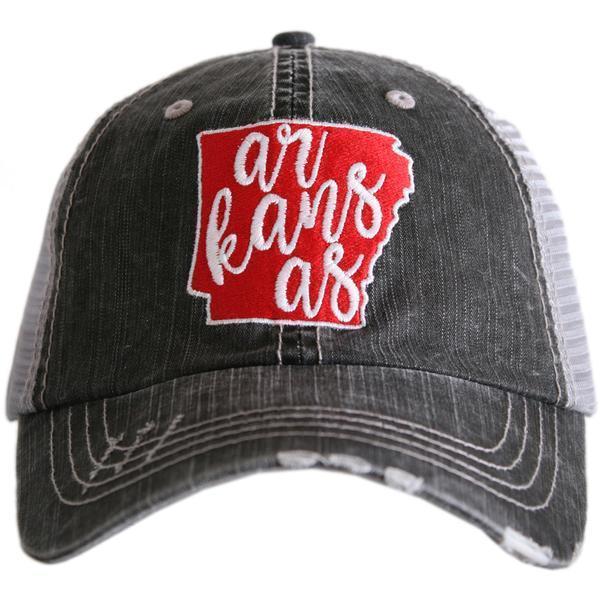 651008cfc6c97 Arkansas Trucker Hat by Trendy Stitch on Zibbet