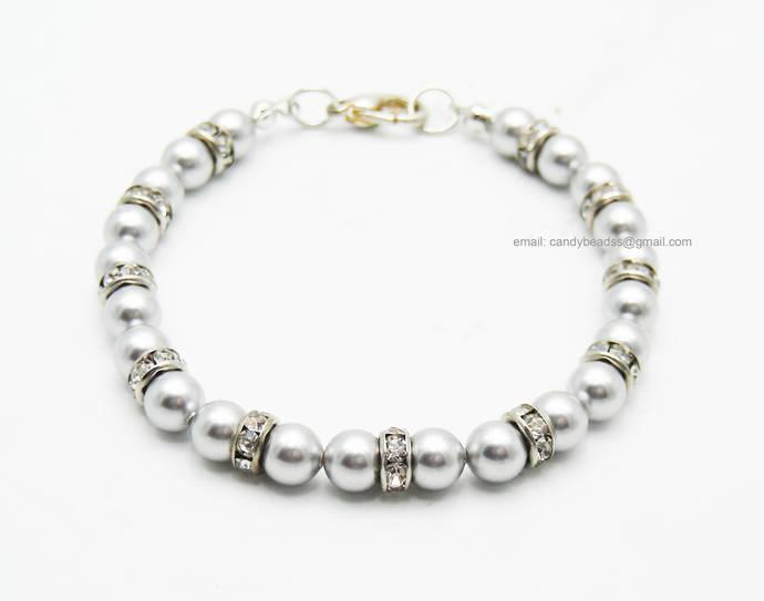 SALE; Size 9 1/2 inches; Beaded bracelet; Swarovski bracelet;Friendship