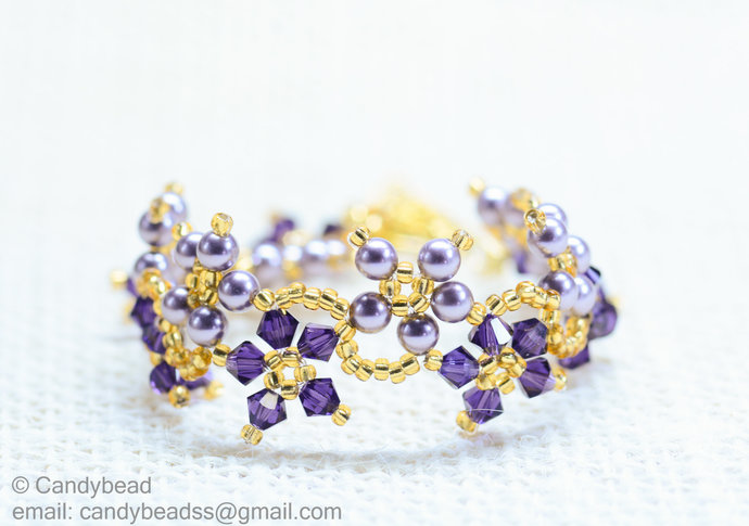 SALE; Size 7 to 8 inches; Crystal Bracelet; Swarovski Bracelet; Glass Bracelet;