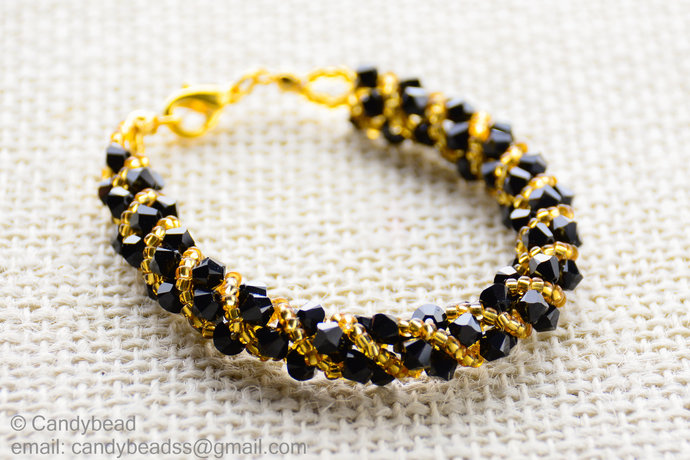 Swarovski Bracelet; Crystal Bracelet; Glass Bracelet; Twisty Swarovski Bracelet