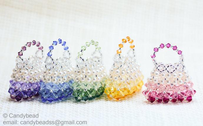 Crystal Purse; Swarovski Purse; Glass; Crystal Purse - Swarovski Crystal and