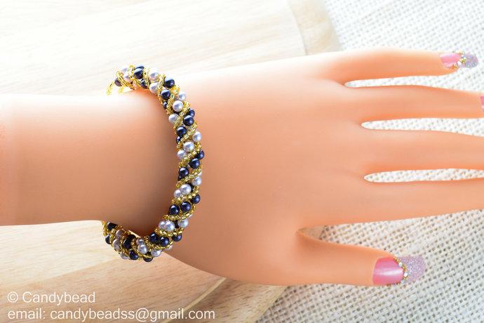 Size 7 inches Swarovski Bracelet; Crystal Bracelet; Glass Bracelet; Twisty